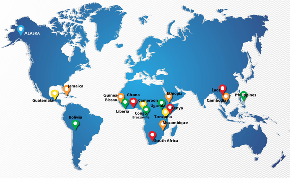 INTL Food Aid map