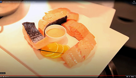 Chef Jason Wilson poaches Alaska salmon