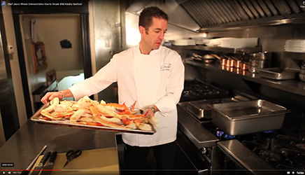 Chef Jason Wilson steams Alaska King crab